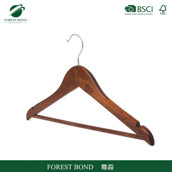 New hot fashion new arrival wooden shopping hanger for coat