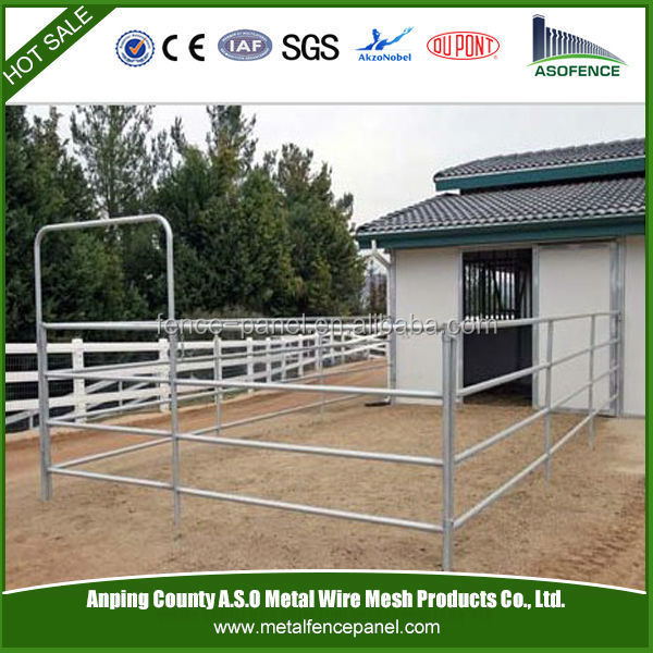 Metal galvanized portable horse fence panel