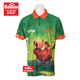 Dye sublimation 100% cotton pocket polo shirts with men polo shirt