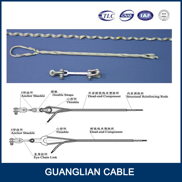 electric power line fitting Insulated wire Steel Tension clamp