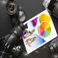 guangdong manufacturer135g self-adhesive glossy photo paper