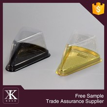 2015 New Triangle Shape Blister Packaging Plastic Cake Box With Lid