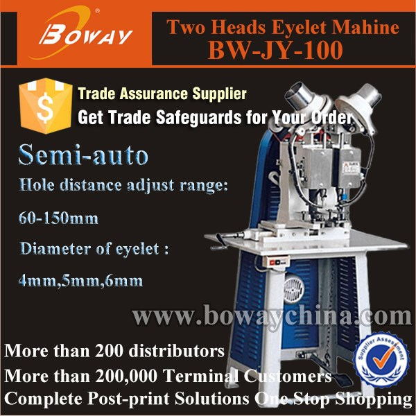 Semi auto 2 hole envelope makeing pressure ring eyeleting punching machine
