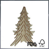 wooden Christmas tree decoration mini plywood Christmas tree