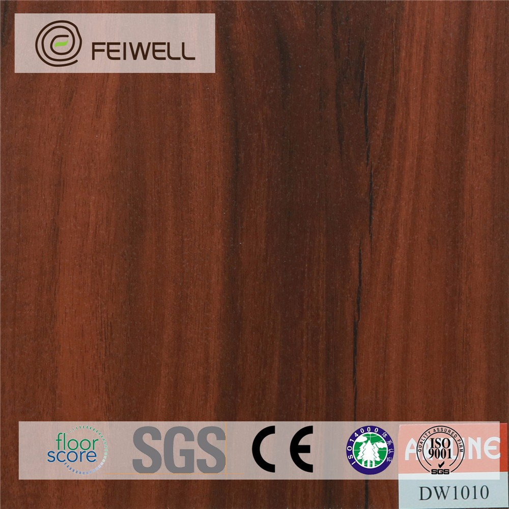 Retro Dark wood pattern Mulit-color PVC gloss floor