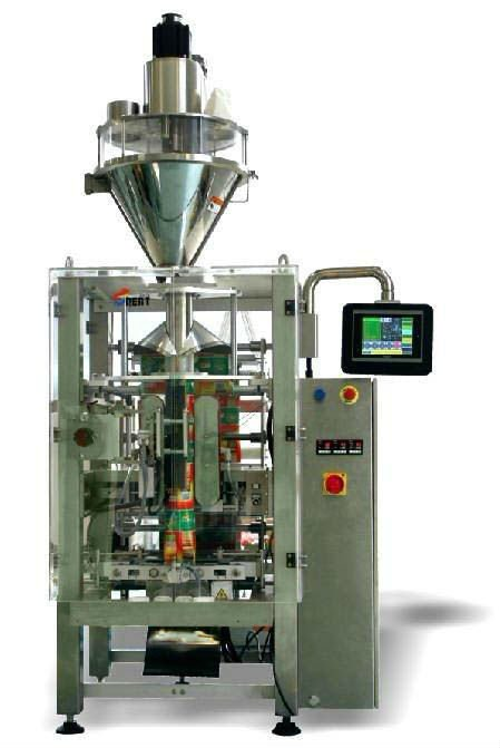 Automatic vertical form fill seal food packaging machine with auger filler