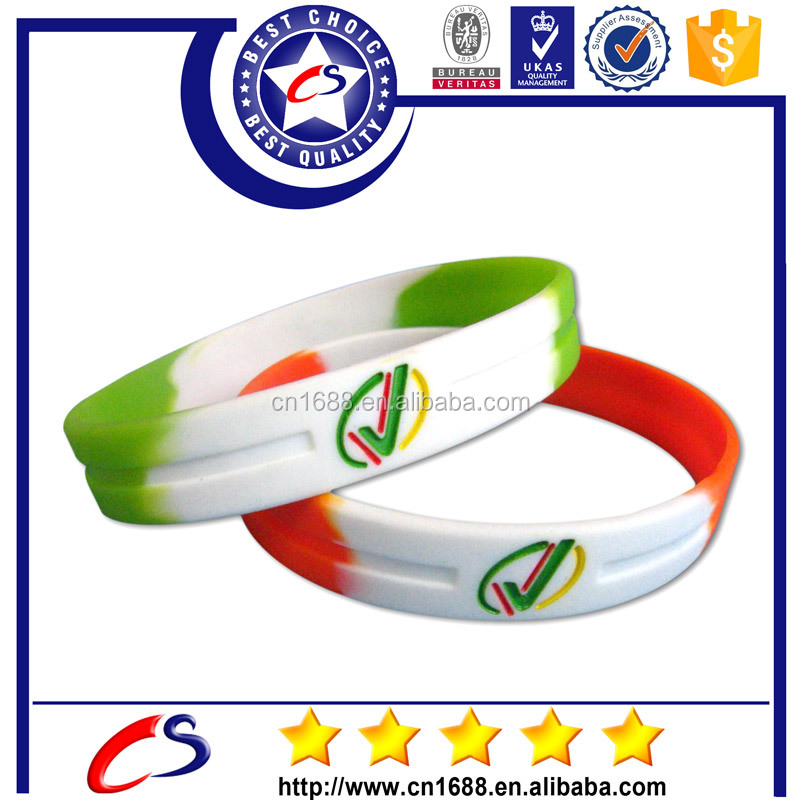 multicolor mixed Wristband Silicone Promotion Filled hockey Bracelet gifts m-09