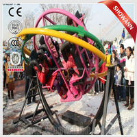 Outdoor park used 360 Degree Rotating 3D space ring/spin type amusement rides/swing type gyro ride