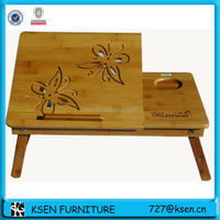 high quality bamboo foldable laptop table KC-T207