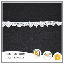 Free sample Customized design 1.2cm White Venise Lace Trim for Dresses