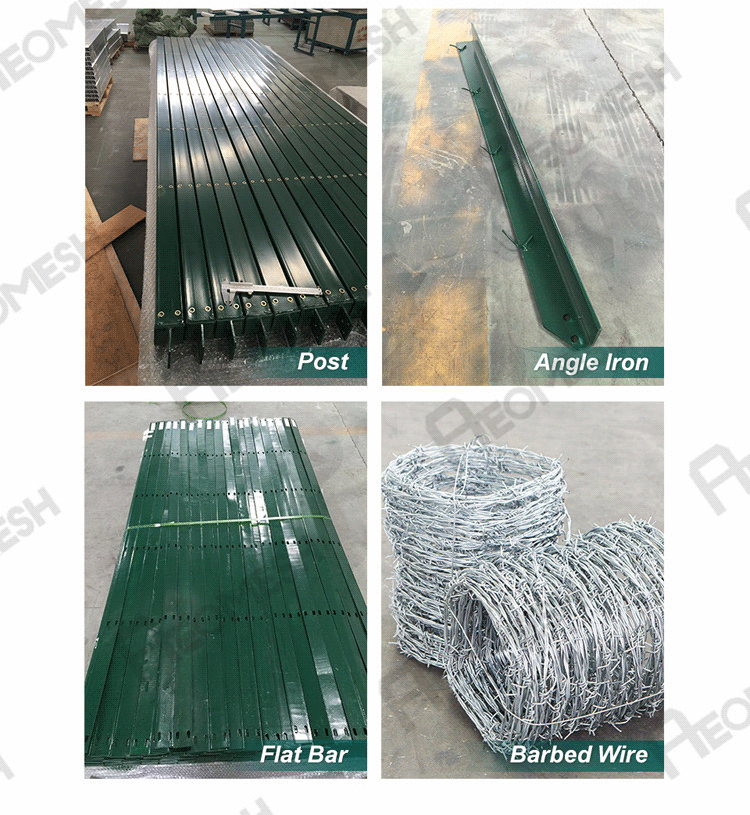 Barbed wire fencing,military base security fence,cyclone fencing