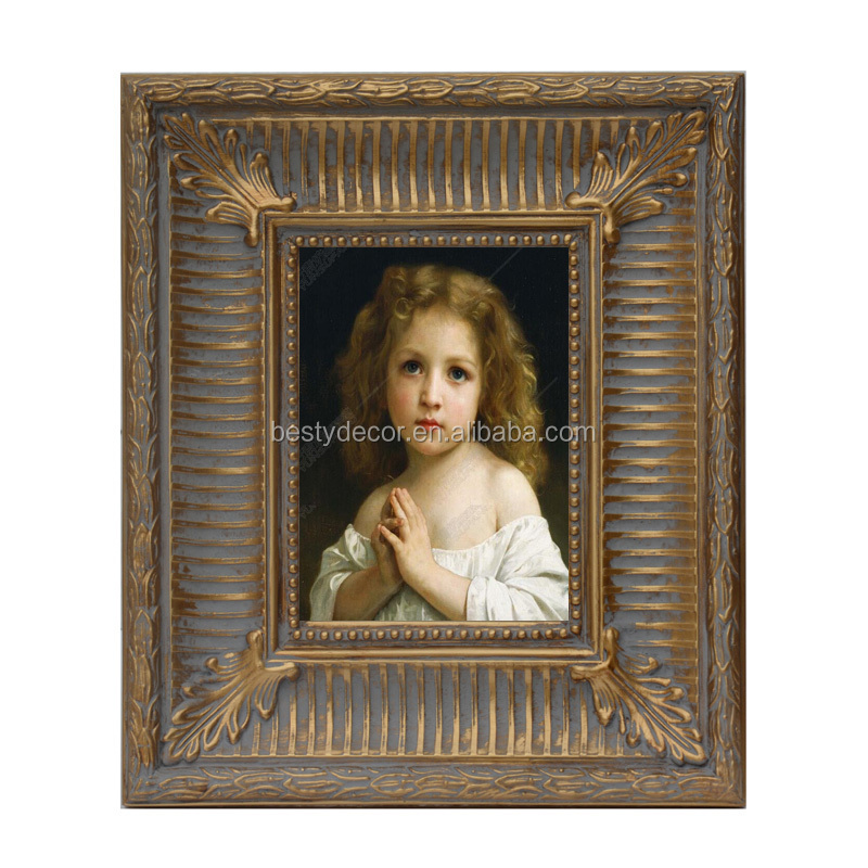 Baroque antique stand wooden picture photo frame wholesale - Vintage picture frames cheap ...