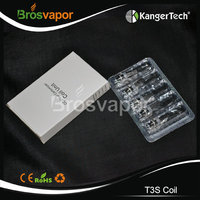 100% origianl Kanger T3 eGo Bottom Coil for T3S Clearomizer Kanger T3S Wick in stock