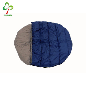 Soft microfiber interior comfortable water resistant nylon exterior pet dog sleep bag