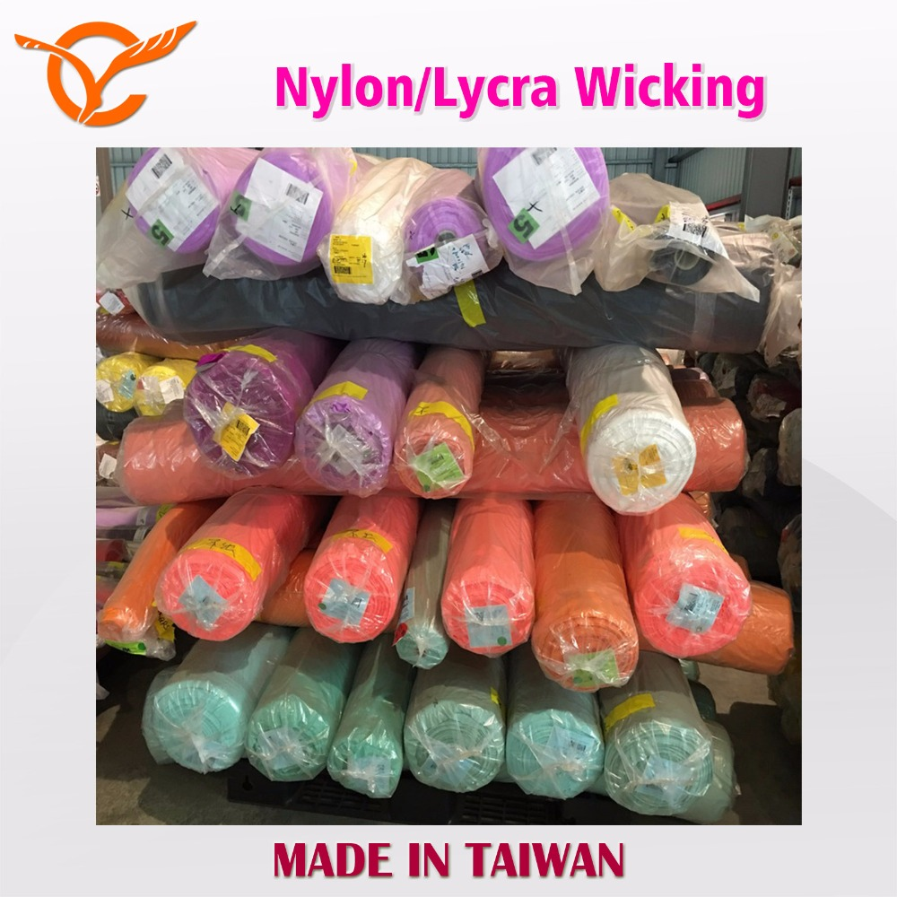 Made In Taiwan Functional Nylon/Lycra Fabric Stock Lots For Sexy Sports Wear