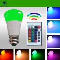 New ir remote high lumen RGBW LED Bulb 3W 5W with Color Changing Light