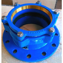 DN300 ductile iron self-restrained flange adaptor for PVC PE PIPE