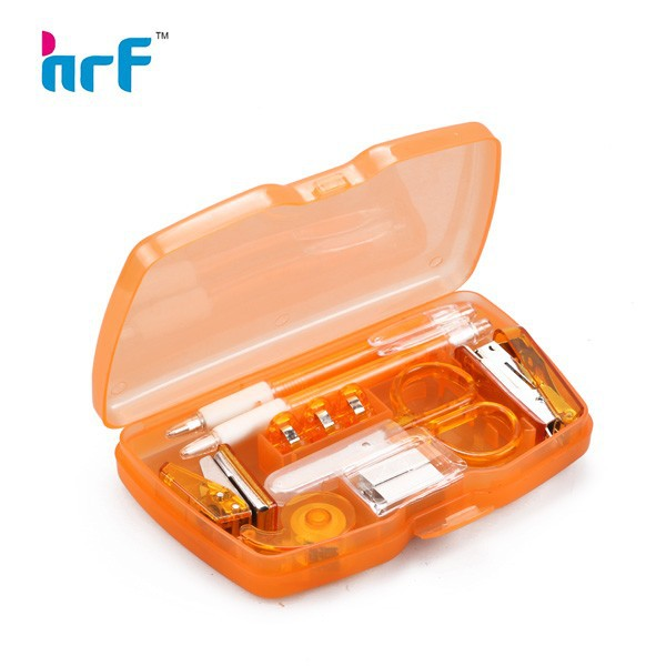 Transparent box office stationery set
