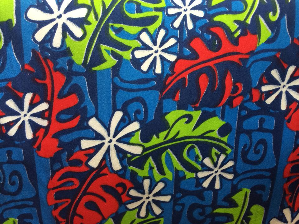 "Polynesian All Over Fabric Print 60"" inch wide (USA / CALIFORNIA )"