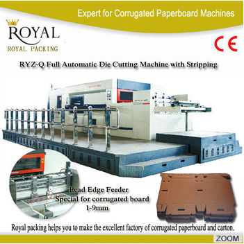 High-end high speed RYZ1650Q model lead edge feeder full automatic flatbed paper die cutting machine with stripping