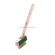 Steel wire weeding brush for pull out the weeds with long wood handle best price for sale