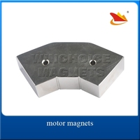 Motor Neodymium Arc Magnets N35H Customized