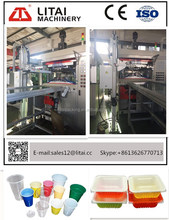 TQC-650B plastic forming Plastic PS Disposable Fast Food Container Making Machine
