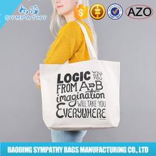 High Quality clear wholesale blank canvas lady's Canvas Tote Bags