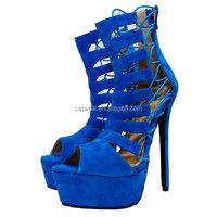 Ankle high roman gladiator sandal boots queen of heels lace up sandals sexy platform shoes