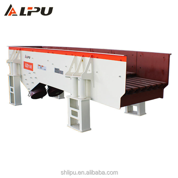 Mechanical motor vibrator feeder with continuous working