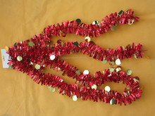 PET wire round ball metallic plastic Christmas garland