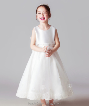 wholesale white baby wedding dress latest formal dress patterns flower girl dress of 9 years old ED719