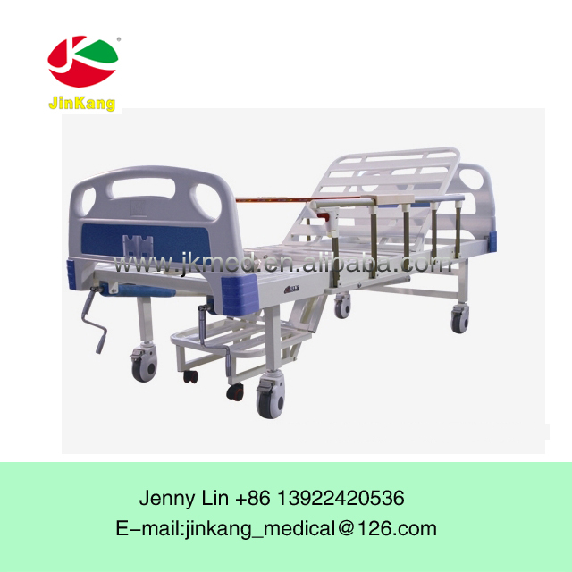 Double crank Manual Medical hospital Bed With stable structure