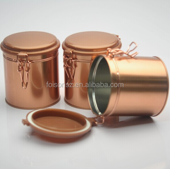OEM printing decorative airtight metal coffee and tea tin cans factory