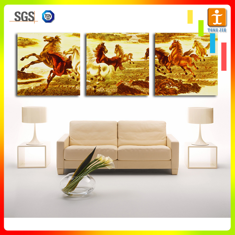 Modern abstract horse oil paintings art on canvas for living room