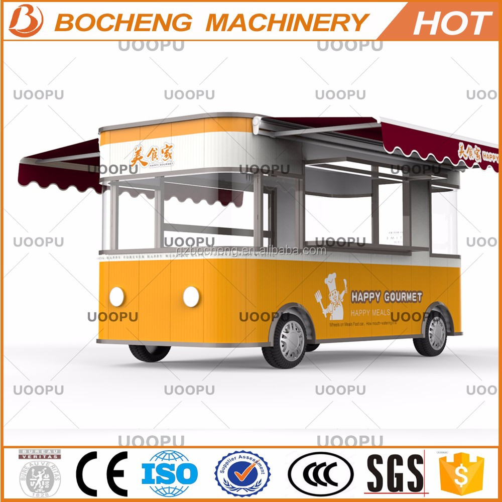 2017 hot sale moving kitchen cart large space food trucks mobile food trailer
