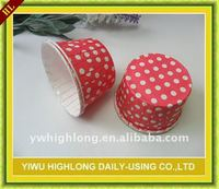 Red polka dots muffin cup,baking cake cup.