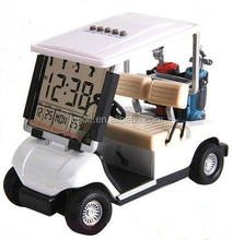 Clock Golf Buggy Miniature Mini Cart Novelty Collectors Time Alarm Desktop