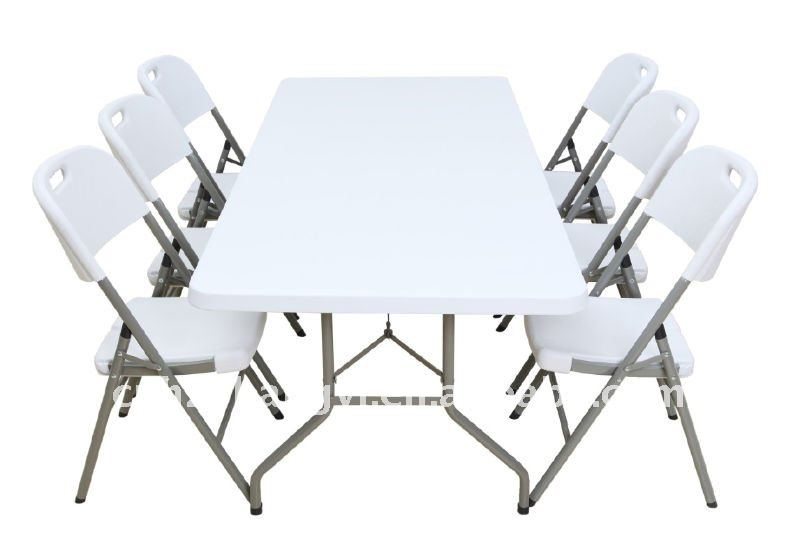 outdoor folding furniture party plastic dining tables and chairs for sale