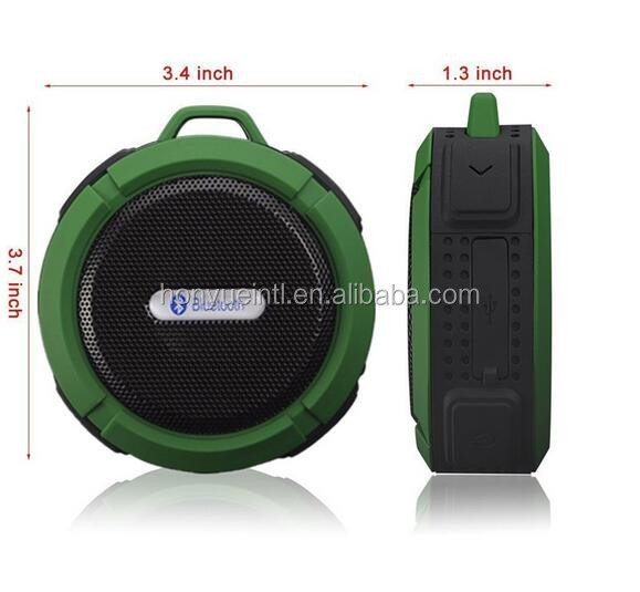 Hands free outdoor portable boom touch speaker