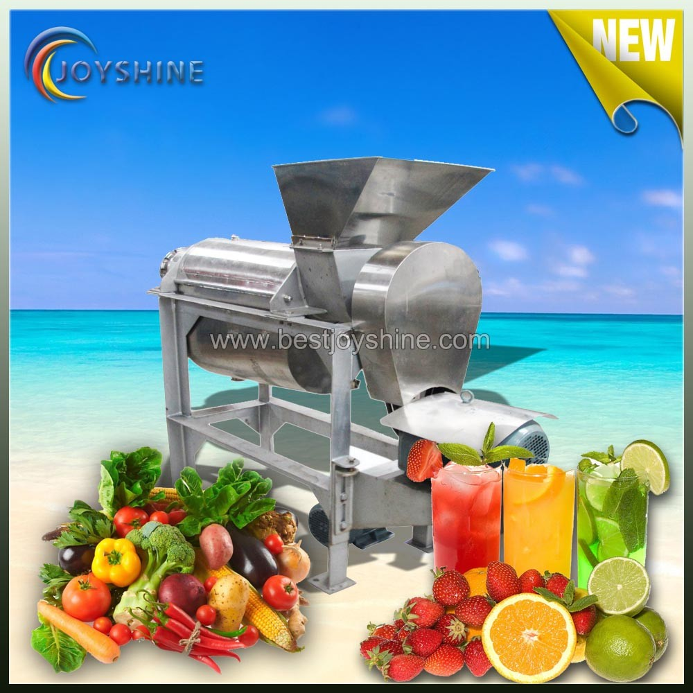 With strong wooden case package big Output high quality automaticdouble screw ginger juicer for sale