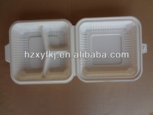 Disposable Biodegradable Take away 3 Compartment Microware Food Container
