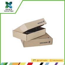 Brown corrugated cardboard packaging box