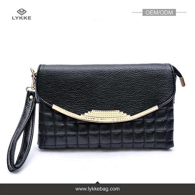 Custom newest fashion quilted pu leather womens hand bag,europe wholesale women clutch ladies handbags