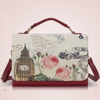 2015 hot sell famous brand woman fashion bag ladies fancy digital print handbag