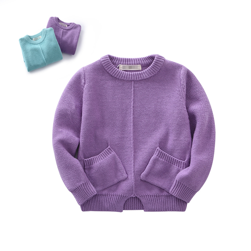 < Apparel Processing > 2016 Kid's Pullover Sweater Plain Pullover Sweater 100% Cotton Sweater Knitwear Models For Children