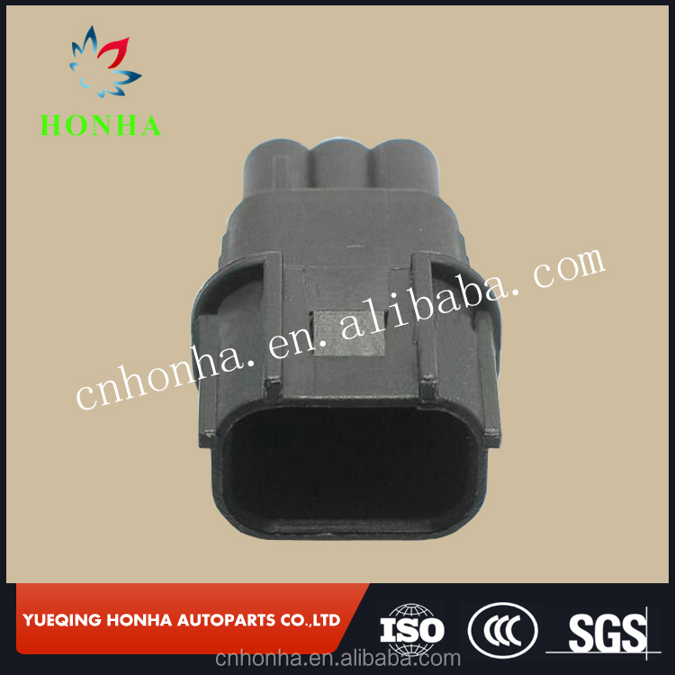 6188-4775 3 pin black male waterproof auto electrical connector for Sumitomo