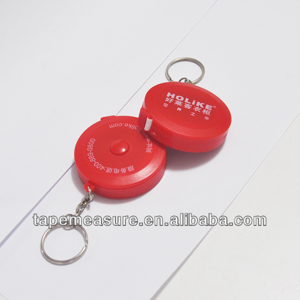 79inch gift red tailor 2m measuring tape abs round keychain cheap china bulk wholesale clothing with Your Logo