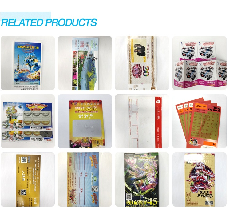 Professional 20 Years Factory Customized High Quality Lottery Tickets Or QC Code Scratch Off Cards