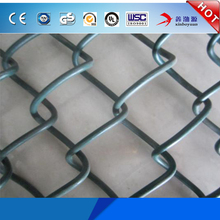 China Cheap Price Electro Galvanized Steel Construction 2m Width Powder Coated 5x5 Chain Link Fence